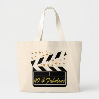 40 AND FABULOUS MOVIE QUEEN JUMBO TOTE BAG