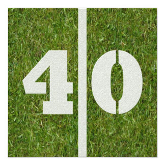 40th Birthday Football Party Invitation