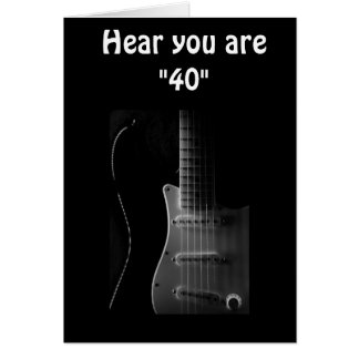 """40th"" BIRTHDAY HUMOR-BET YOU CAN ""STILL STRUM!!!! Greeting Card"