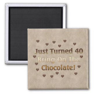 40th Birthday Means Chocolate Square Magnet
