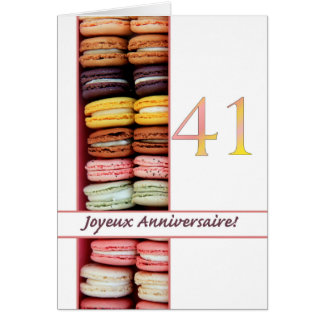 41st French Birthday Macaron-Joyeux Anniversaire! Note Card
