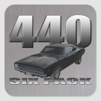 440 six pack dodge charger square sticker