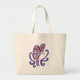 4th of July Butterfly Jumbo Tote Bag
