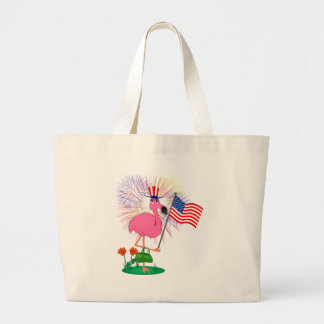 4th of July Flamingo Bag