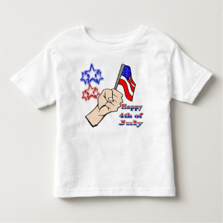 4th of July - Hand Holding Flag T-Shirt