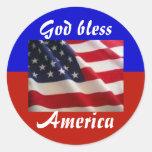 4th of July Patriot Round Sticker