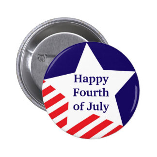 4th of July star stripe red white blue custom 6 Cm Round Badge