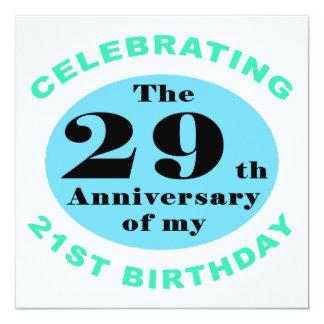 50th Birthday Humor 13 Cm X 13 Cm Square Invitation Card