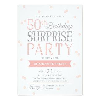50th Confetti Surprise Party Invitation   Birthday
