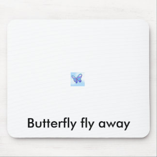 51, Butterfly fly away Mouse Pad