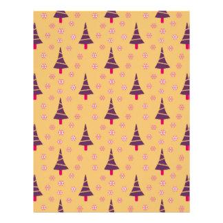 587 Cute Christmas tree and snowflake pattern.jpg Customized Letterhead