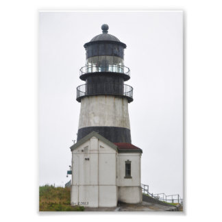 5X7 Cape Disappointment Lighthouse-Longbeach, WA Photographic Print
