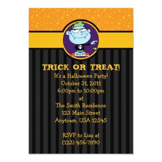 5x7 Vampire Punk Halloween Party Invitations