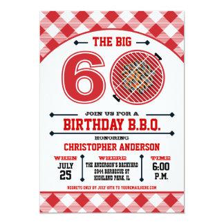 60th Birthday Barbecue Invitation
