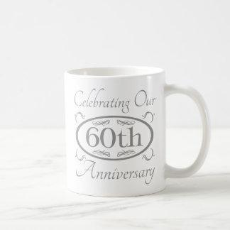 60th Wedding Anniversary Basic White Mug
