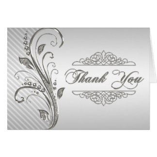 60th Wedding Anniversary Thank You Note Card