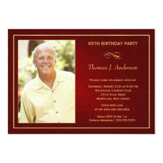 65th Birthday Party Invitations - Add your photo