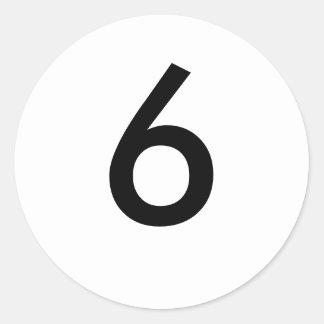6 ROUND STICKER