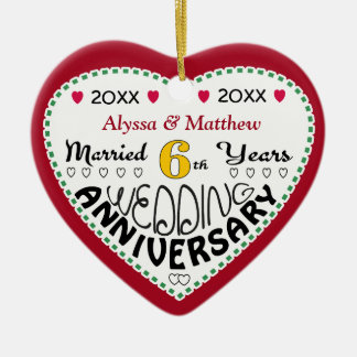 6th Wedding Anniversary Gifts-Christmas Ornament