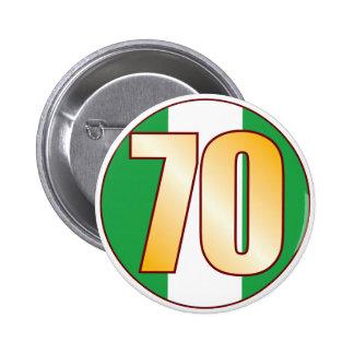 70 NIGERIA Gold 6 Cm Round Badge