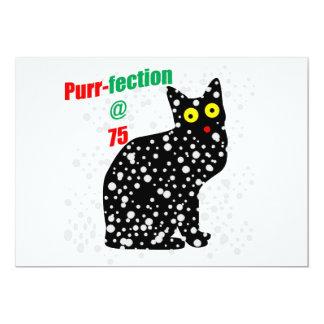 70 Snow Cat Purr-fection 13 Cm X 18 Cm Invitation Card