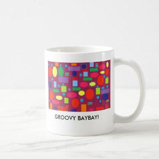 70swallpaper, GROOVY BAYBAY! Basic White Mug