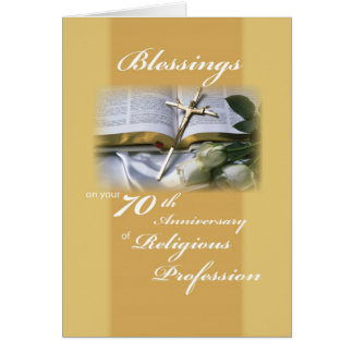 70th Anniversary of Religious Profession for Nun Greeting Card