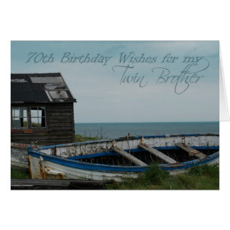 70th Birthday Twin Brother Greeting Card