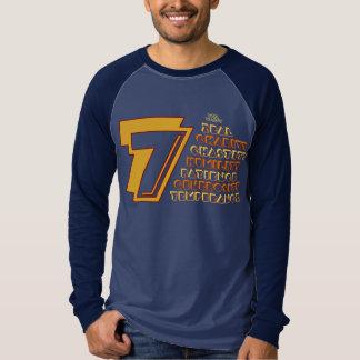 7 Heavenly Virtues Men's Canvas Long Sleeve Raglan T-shirts