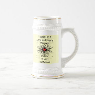 7 Words For A Long and Happy Marriage Beer Steins