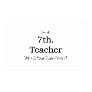 7th. Grade Teacher Pack Of Standard Business Cards