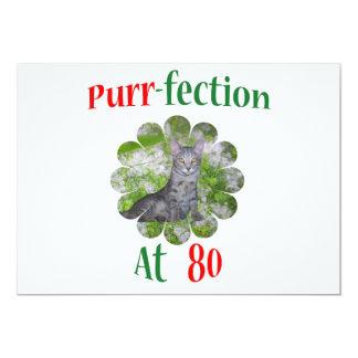 80 Purr-fection 13 Cm X 18 Cm Invitation Card