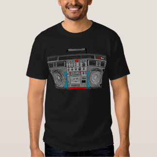 80s boombox illustration tshirt