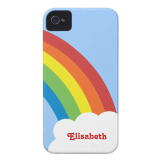 80's Retro Rainbow Personalized iPhone 4/4S Case