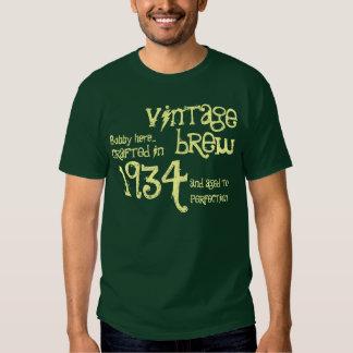 80th Birthday 1934 or Any Year Vintage Green Cream Tee Shirts