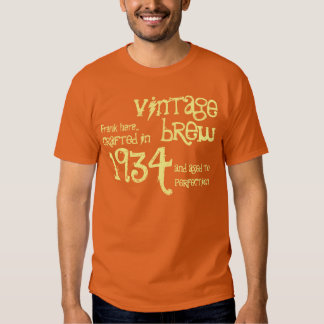 80th Birthday 1934 or Any Year Vintage OrangeCream T-shirt