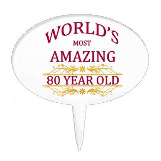 80th. Birthday Cake Topper