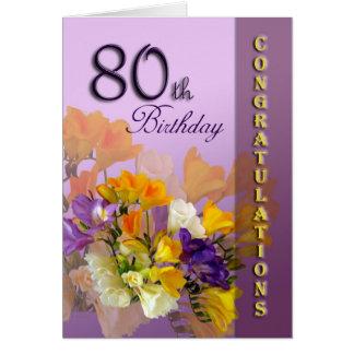 80th Birthday Congratulations Birthday Card