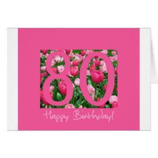 80th birthday greeting greeting card