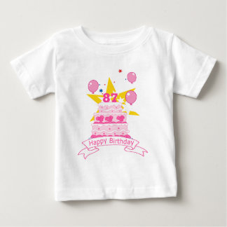 87 Year Old Birthday Cake T Shirt
