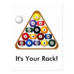 8-ball Rack postcard