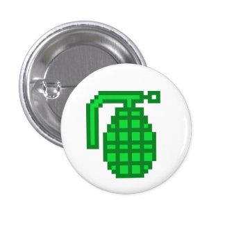 8 Bit Grenade 3 Cm Round Badge