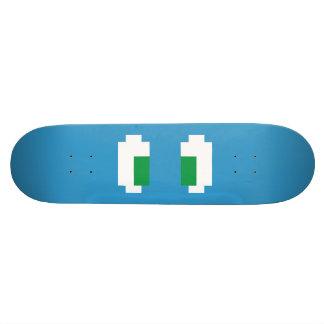 8 Bit Pixel Manga Green Eyes Skate Deck