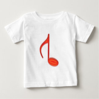 8th Note Reversed Plastic Red Large T Shirt