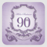 90th Birthday Celebration Personalised Stickers
