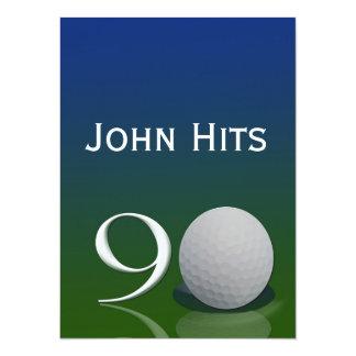 90th Birthday Party Golf invitation template