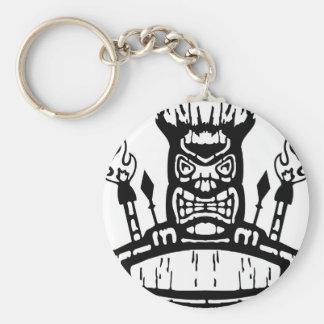 9213032011 Tiki (Rocker & Kustom) Basic Round Button Key Ring