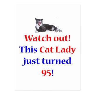 95 Cat Lady Postcard