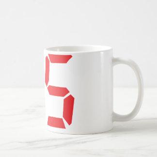 95 ninety-five red alarm clock digital number basic white mug