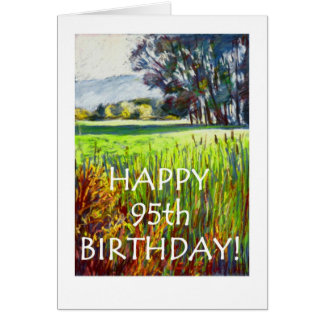 95th Birthday Card - Evening in the Meadows